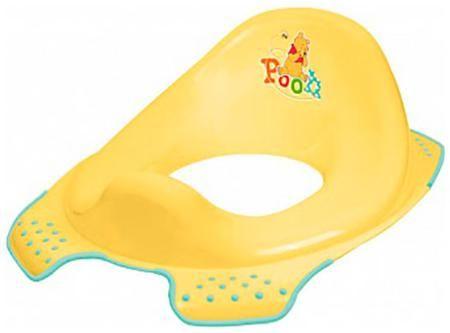 Окт Накладка на туалетокт disney 'винни пух', нескольз. (желтый)  — 551р.  Рекомендуемый возраст: 2года Простые, безопасные и универсальные накладки на унитаз, облегчающие ребенку самостоятельное пользование туалетом.Благодаря инновационной форме сиденья для унитазов OKT кидс подходят для всех стандартных туалетов. Профилированная форма облегчает Малышу пользование туалетом, противоскользящие края стабильно укрепляют сиденье на унитазе. Цветные картинки с героями сказок Диснея и др. очень…