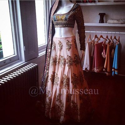 Regal Couture Lengha. Designed, Developed and Created In-House. Available…