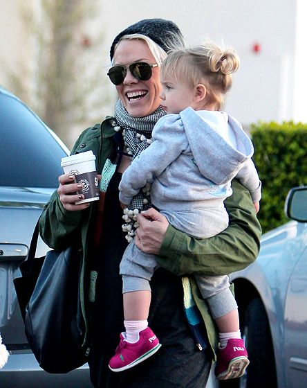 Pink and her daughter Willow.