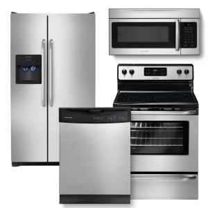 3 Piece Stainless Steel Kitchen Appliance Package
