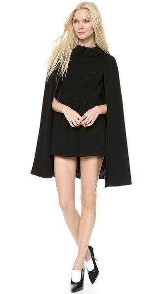 Dramatic Cape Dress