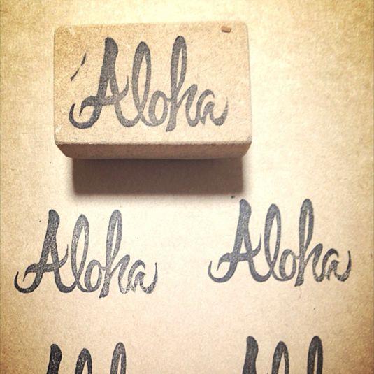 「Aloha」アロハ消しゴムはんこ