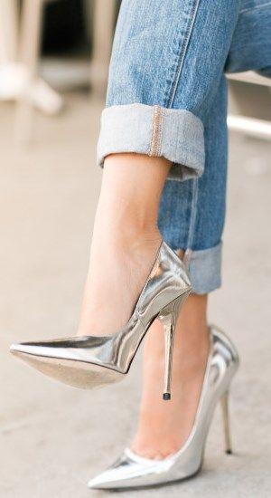 Zapatillas de plata con compresor www.TangoJuntos.com