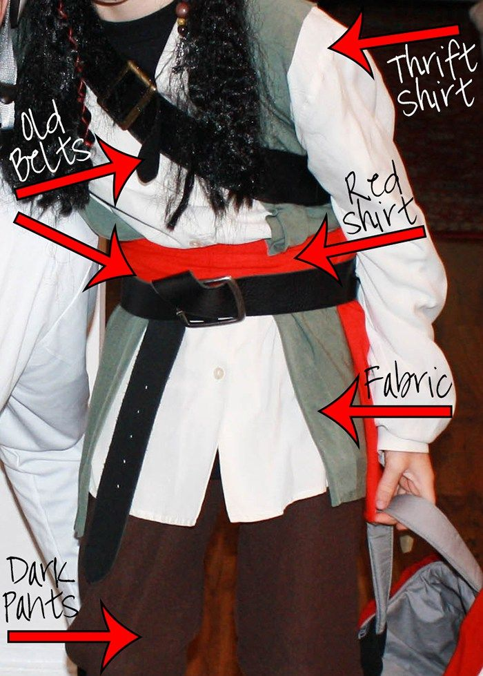 Easy DIY Jack Sparrow Costume - {CrazyHappy.Life}