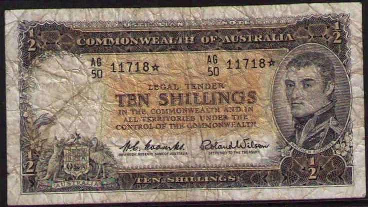 1961 Ten Shillings Coombs / Wilson Star Replacement Banknote In VG Condition
