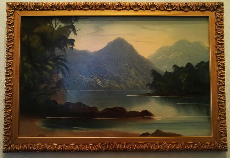 Early Colonial New Zealand landscape. No signature.