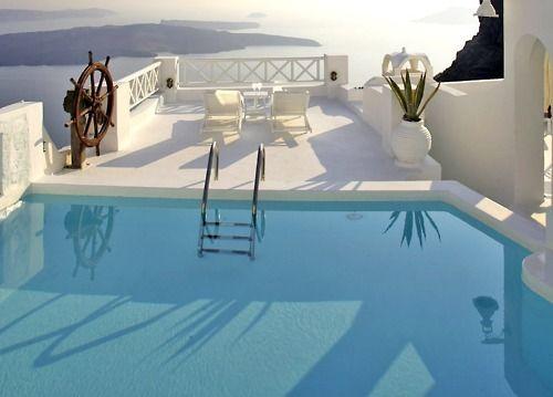 jump in!: Dreams Places, Santorini Greece, Favorite Places, Luxury House, The Rocks, Summer House, Pools Decks, Swim Pools, Interiors Design