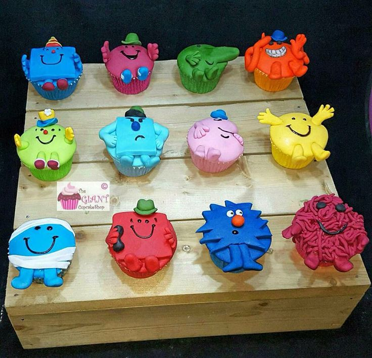 Mr Men cupcakes - For all your cake decorating supplies, please visit http://www.craftcompany.co.uk/
