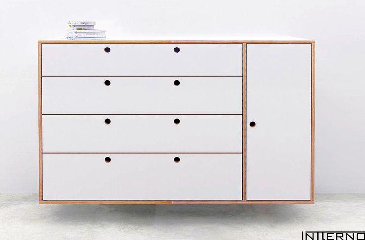 #intterno szafka wisząca ze sklejki, komoda ze sklejki Intterno plywood furniture, meble ze sklejki #plywoodcupboard