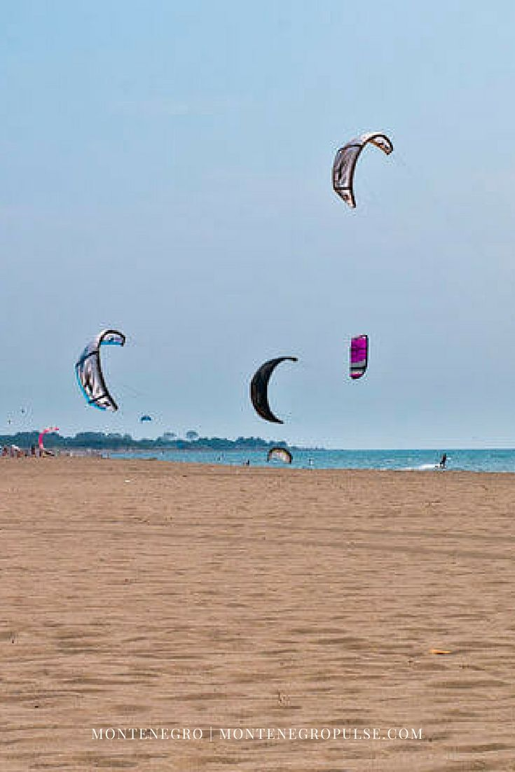 Ulcinj's Velika Plaza in Montenego is a seemingly-endless stretch of sandy beach that's a mecca for families, kitesurfers and party-lovers alike.