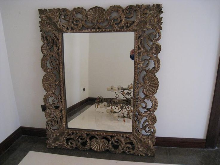 Dubizzle Dubai Home Decor Accents Large Wooden Carved Mirrors 2 Nos Size 150cm X 120cm