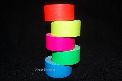 1 Inch UV Blacklight Reactive Fluorescent Gaffer Tape 1x  5.9 YDS