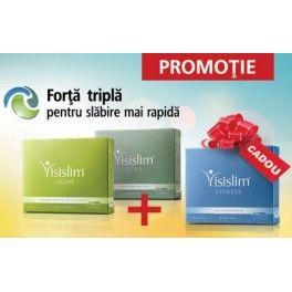 La pretul unei cutii Visislim Line si a uneia Visislim Light primiti cadou o cutie de Visislim Fitness.