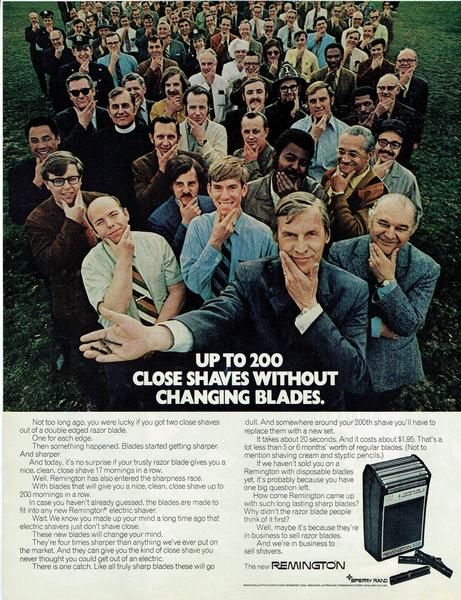 Vintage 1971 Remington Shaver Print-Ad
