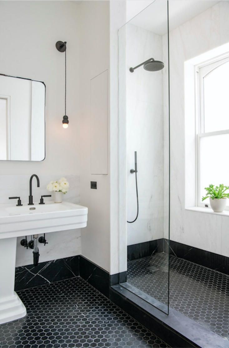 Steal This Look A Classic Nyc Bathroom With A Modern Edge