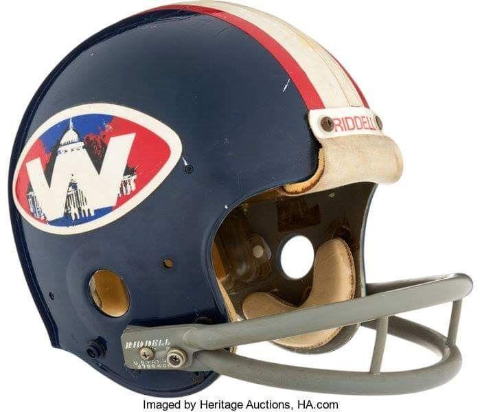 Washington Ambassadors Football Helmets Vintage Football World Football League