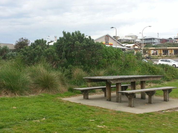 Empty seats in a park - Great Ocean Road