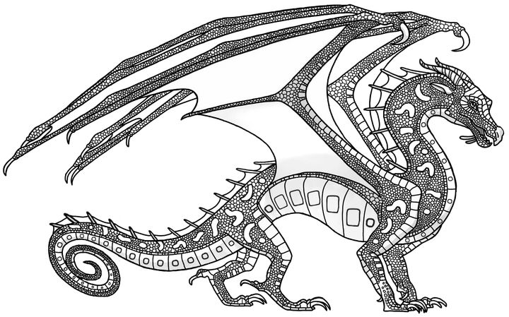 Pin on Wings of Fire coloring pages