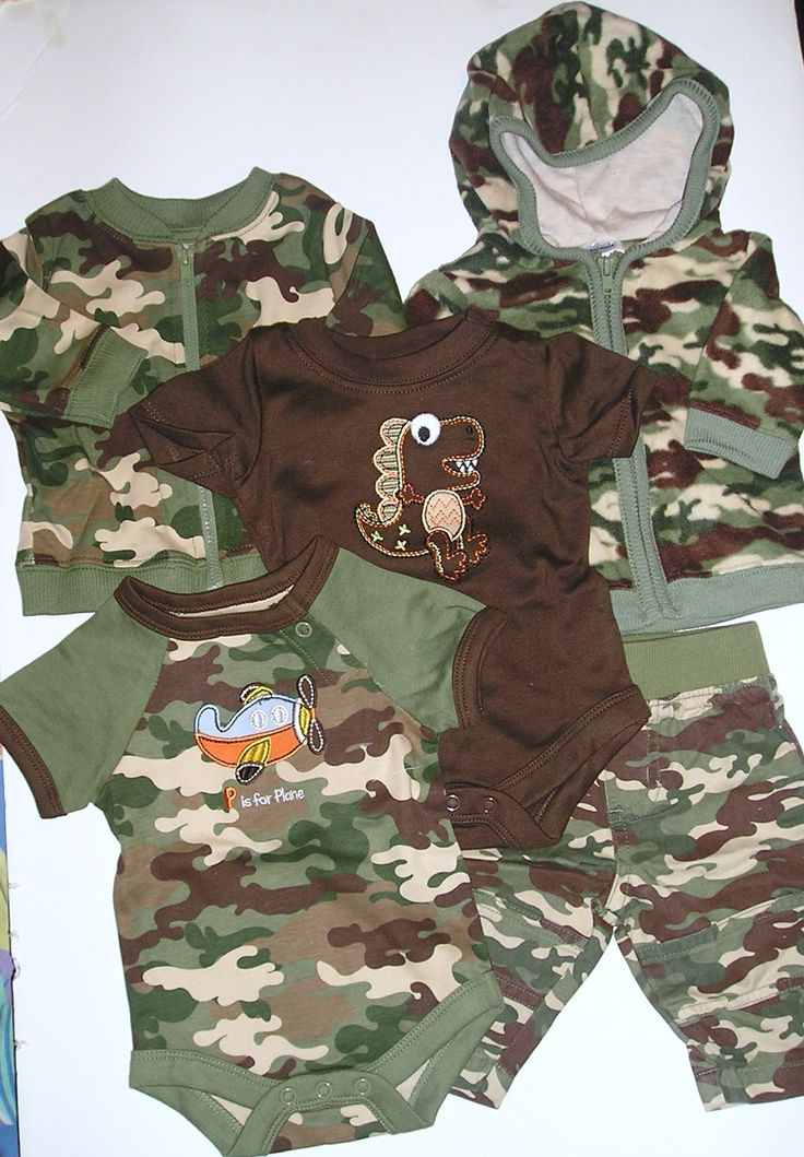 camo baby boy clothes | Preemie Boy clothing page 4:ensembles,coordinated items