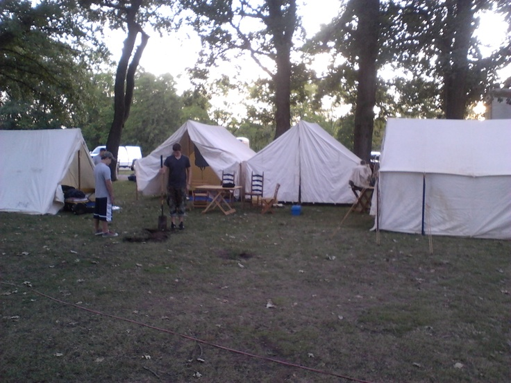 Lewis And Clark Fife And Drum Campsite At Annual Galesburg