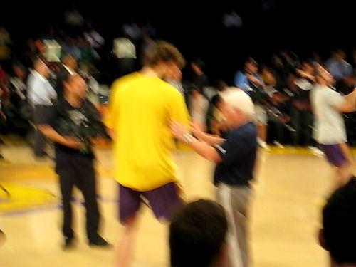 2008 NBA Finals Game 4 Celtics vs. Lakers - Pau Gasol Warmup - http://weheartlakers.com/lakers-photos/2008-nba-finals-game-4-celtics-vs-lakers-pau-gasol-warmup