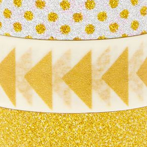 3 Pack Silver & Gold Decorative Tape,