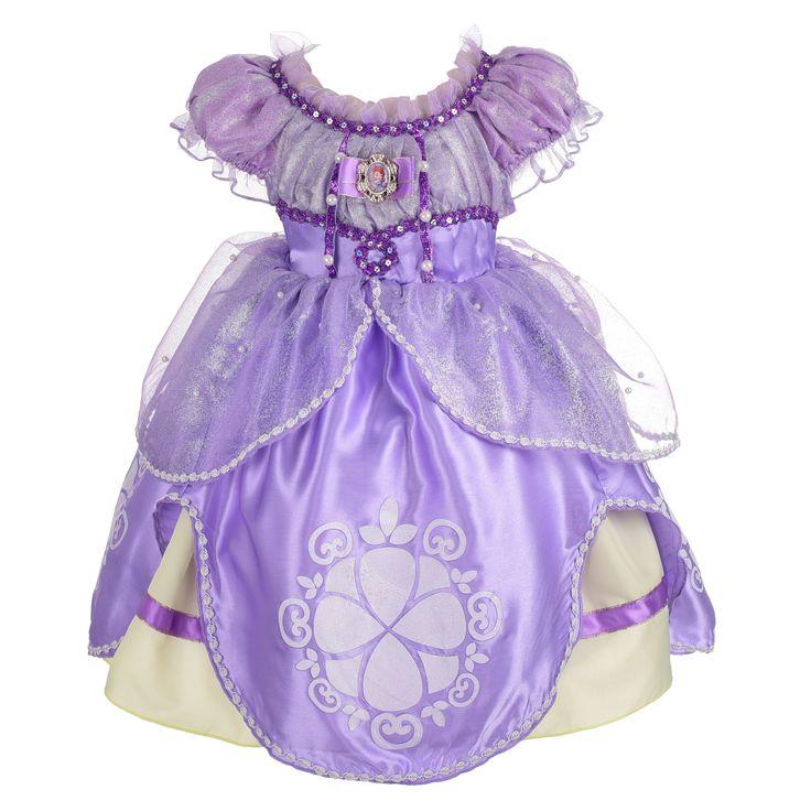 Dressy Daisy Girls' Princess Sofia Dress Up Costume Cosplay Fancy Party Dress Size 2T