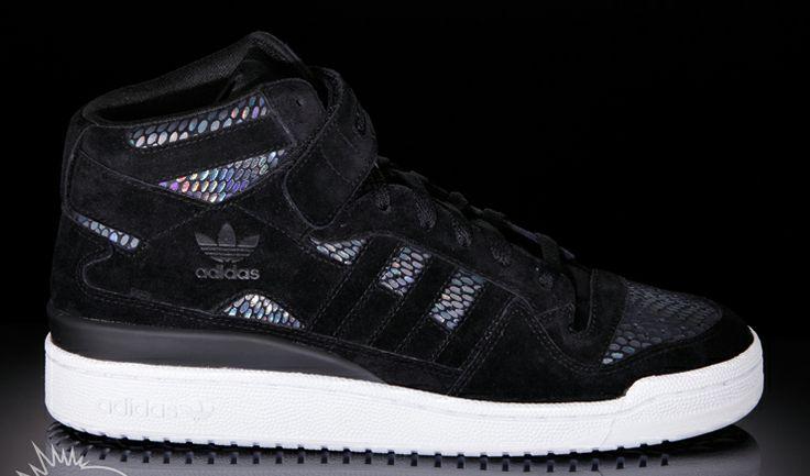 Adidas hologram print sneakers / with snake skin laser film