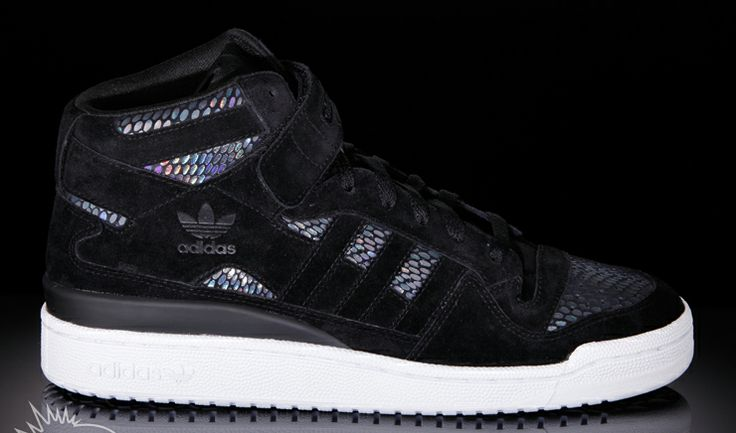Adidas hologram print sneakers / with snake skin laser film