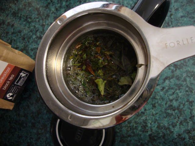"""While my husband was away and left me here sick, I decided to spoil myself by buying some Tielka tea! It is """"Australia's first Fairtrade organic loose leaf tea collection, and a 100% Australian owned family business""""."""