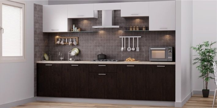 Modern Straight Kitchen Design | Galley kitchen design ...