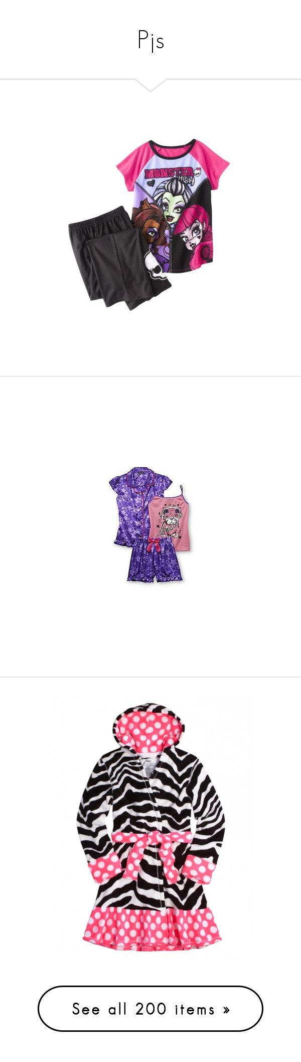 """""""Pjs"""" by princessdance12 ❤ liked on Polyvore featuring girls, kids clothes, intimates, sleepwear, pajamas, victoria secret pjs, victoria secret pyjamas, victoria's secret, victoria secret pajamas and victoria secret sleepwear"""
