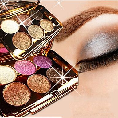 "6+Color+Shimmer+Eye+Shadow+No.1-6(Assorted+Colors)+–+USD+$+7.99 ""Beauty Box from Lightinthebox"" @LightInTheBox"