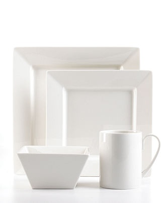 Martha Stewart Collection Dinnerware Avenue Square Collection  sc 1 st  Pinterest & 222 best Dishes of all kinds images on Pinterest | Dish sets Casual ...