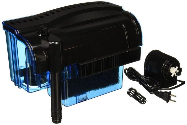 Pro 100 Gallon Fish Tank Filter Power Aquarium Pump Sterilizer Canister 300 Gph