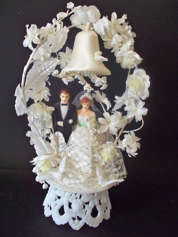Vintage Wedding cake topper by SkeletonStitch on Etsy