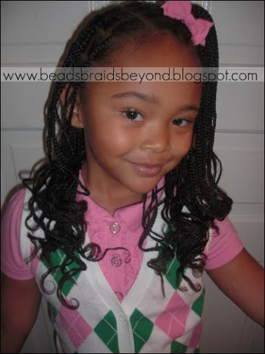 Small Box Braids Curled Curlformers Hairstyles Care