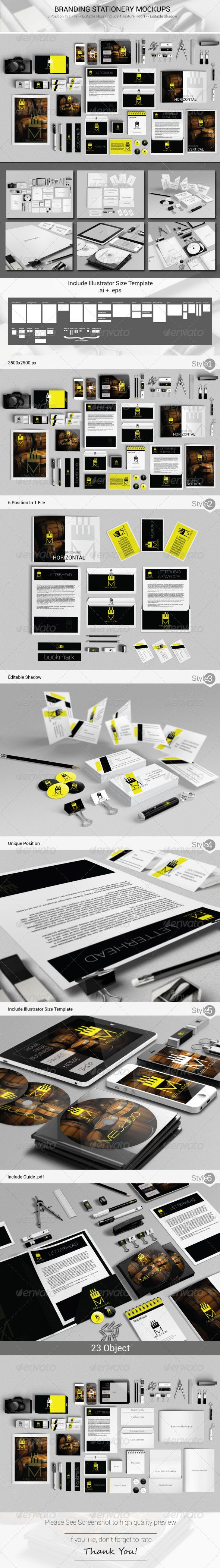 Branding Stationery Mockups Stationery Print 29