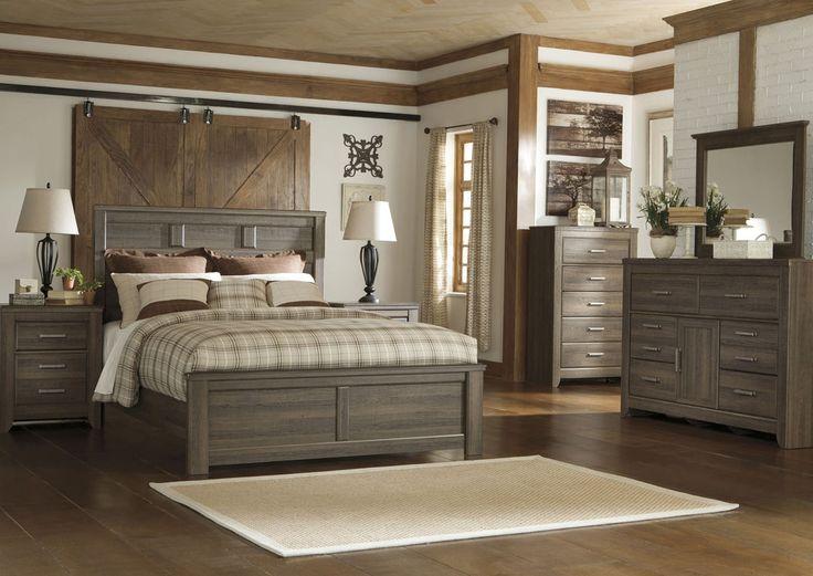 Furniture Factory Warehouse - Barrington, NJ Juararo Queen Panel Bed, Dresser & Mirror
