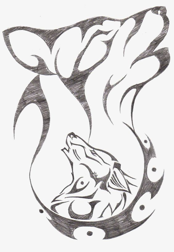 wolf drawings howling wolves pencil easy drawing drawn google tattoo unknown artist tribal avatar animal cool sketches dead creator moon
