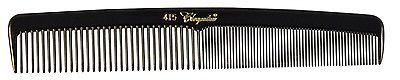 Cleopatra Series 7 inch Round Back Finger Waver Comb Black #415 1Dz