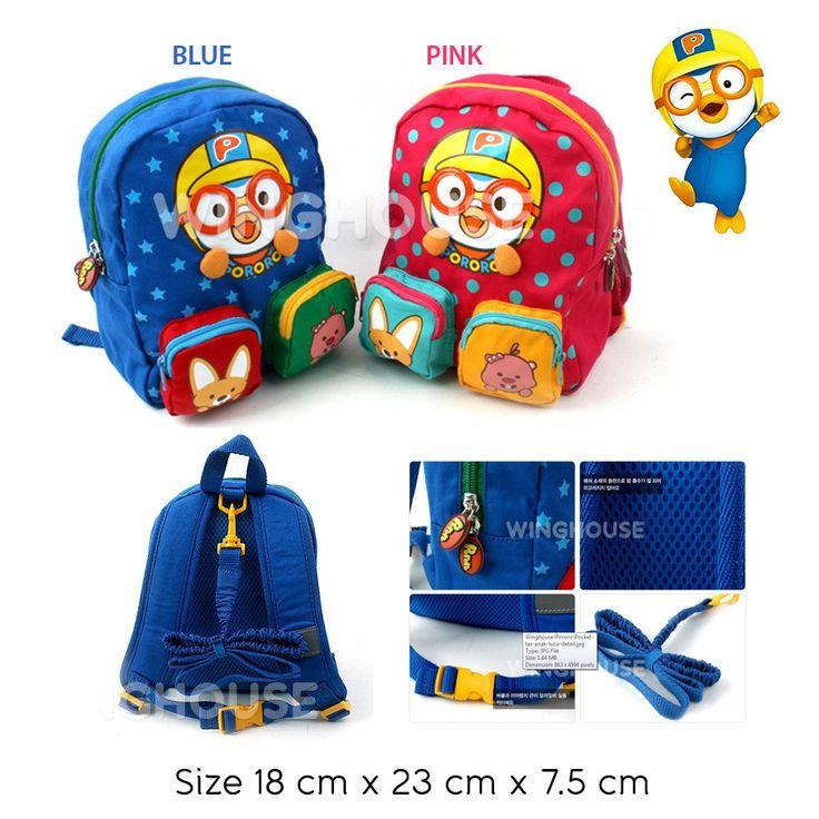 Bag - Winghouse Pororo Pocket Rp 210.000  #tas #anak #pororo #sadinashop