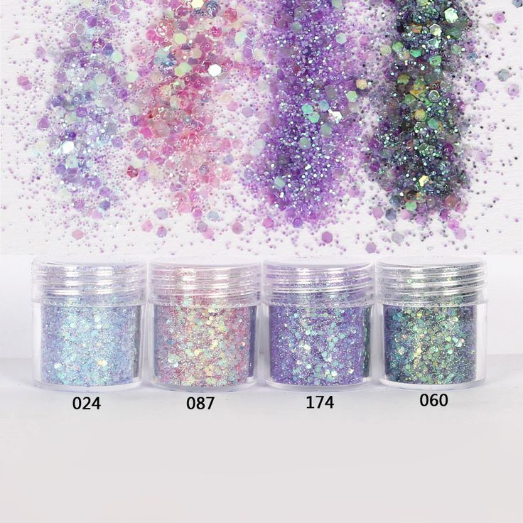 1 Jar/Box 10ml Nail Colorful Pink Purple Mix Nail Glitter Powder Sequins Powder For Nail Art Decoration Optional 300 Colors 4-60