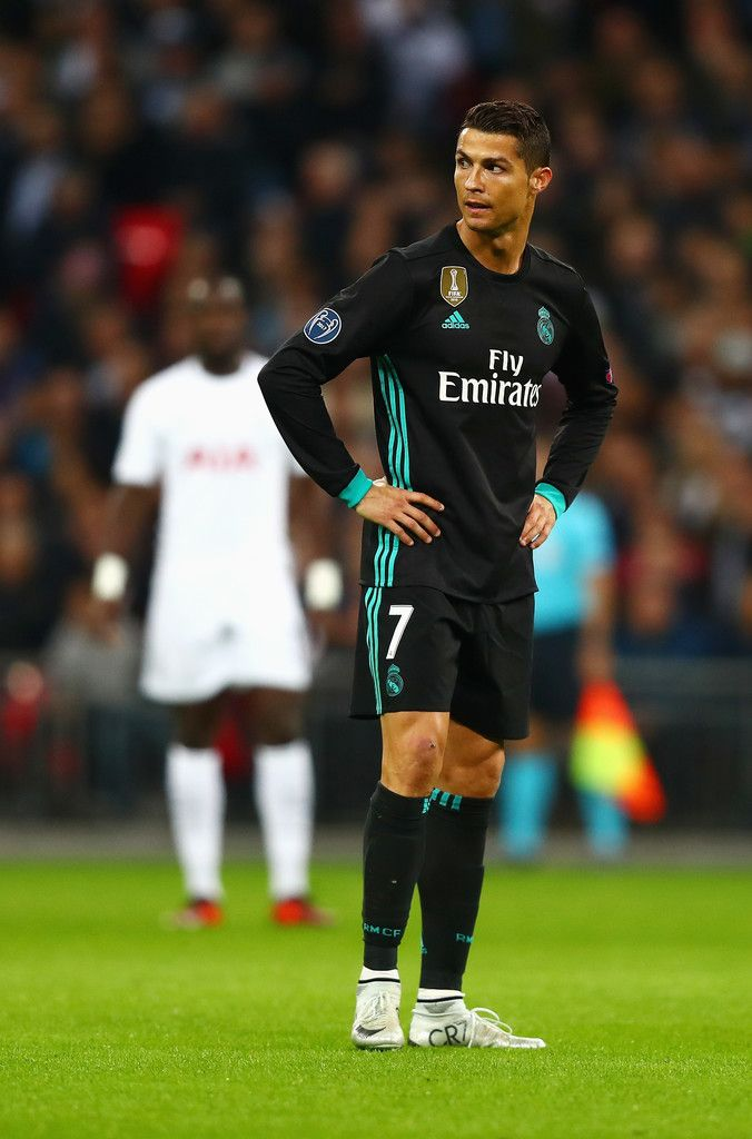 Cristiano Ronaldo Photos - Cristiano Ronaldo of Real Madrid looks on during the UEFA Champions League group H match between Tottenham Hotspur and Real Madrid at Wembley Stadium on November 1, 2017 in London, United Kingdom. - Tottenham Hotspur v Real Madrid - UEFA Champions League