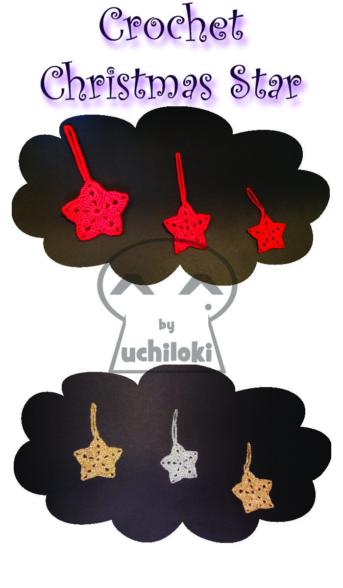 By Uchiloki: PRODUCCION PROPIA Christmas Crocheted Stars
