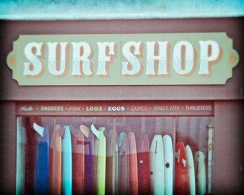 Seaside Decor, Beach Decor, Surf Photography, Vintage Beach Decor - Old Time Surf (8x10) Fine Art Photograph. $30.00, via Etsy.