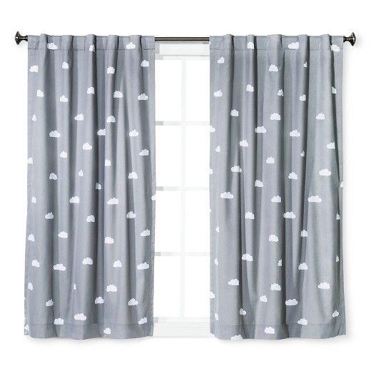 Cloud Print Twill Light Blocking Curtain Panel - Pillowfort™ : Target