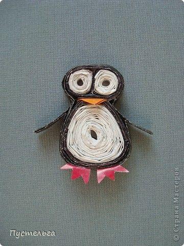 Поделка изделие Пингвин Бумага журнальная фото 1