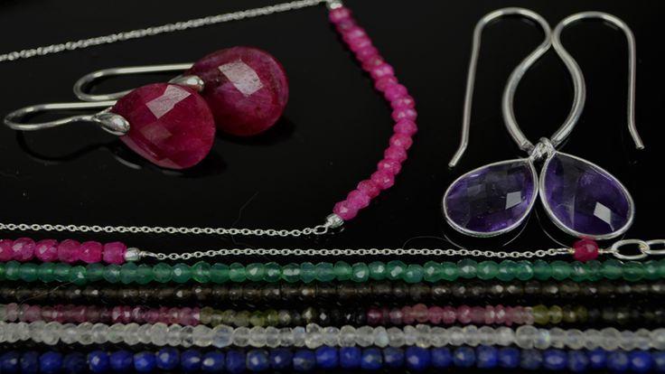Melanie Woods World Jewellery Gemstone earrings and necklaces