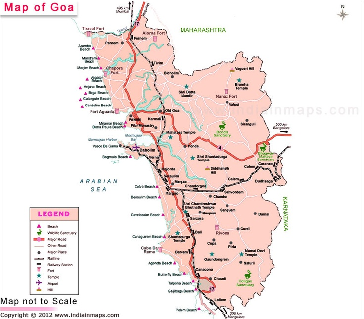 Goa District Map Political Map Of Goa India Find District Map Of Goa Goa Map Highlights All